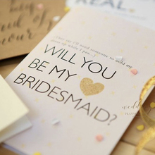 Custom Invitation Card invitation card groomsman / Bridesmaid Will you be my(China)