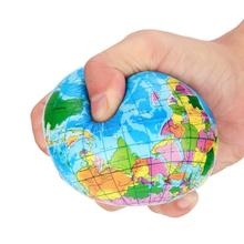 2017 New Arrival Stress Relief World Map Foam Ball Atlas Globe Palm Ball Planet Earth Ball Aug 11