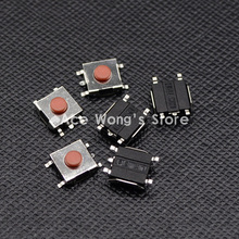 Free shipping 100PCS SMD 5Pin 6X6X3.1MM Red Tactile Tact Push Button Micro Switch Momentary(China)