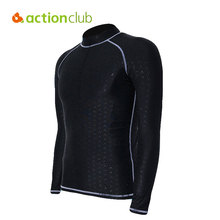 Actionclub Mens Snorkeling Swimming Surfing Rash Guard Waterproof Quick Drying Diving Suit Sunscreen Swimming Cloth Tight Shirts