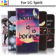 Buy EiiMoo Case LG Spirit Case Cover LG Spirit 4G Lte H422 H440 H440N H420 C70 Funda Cartoon Wallet Flip Leather Phone Bag for $4.97 in AliExpress store