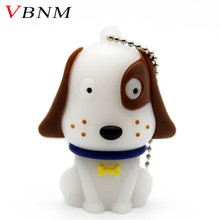 VBNM cartoon pendriver white cute dog Dalmatians pen drive 8gb 16gb 32gb usb 2.0 USB flash drive memory stick gift pendrive(China)