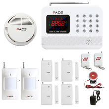 G61 Auto Dial And SMS Home Security Burglar GSM Alarm System and Home Security Entry-Level Fire Alarm System Smoke Detector(China)