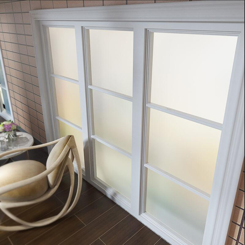 Office Window Glass Privacy White Frosted EASY DIY Vinyl Wrap Film Sheet Home