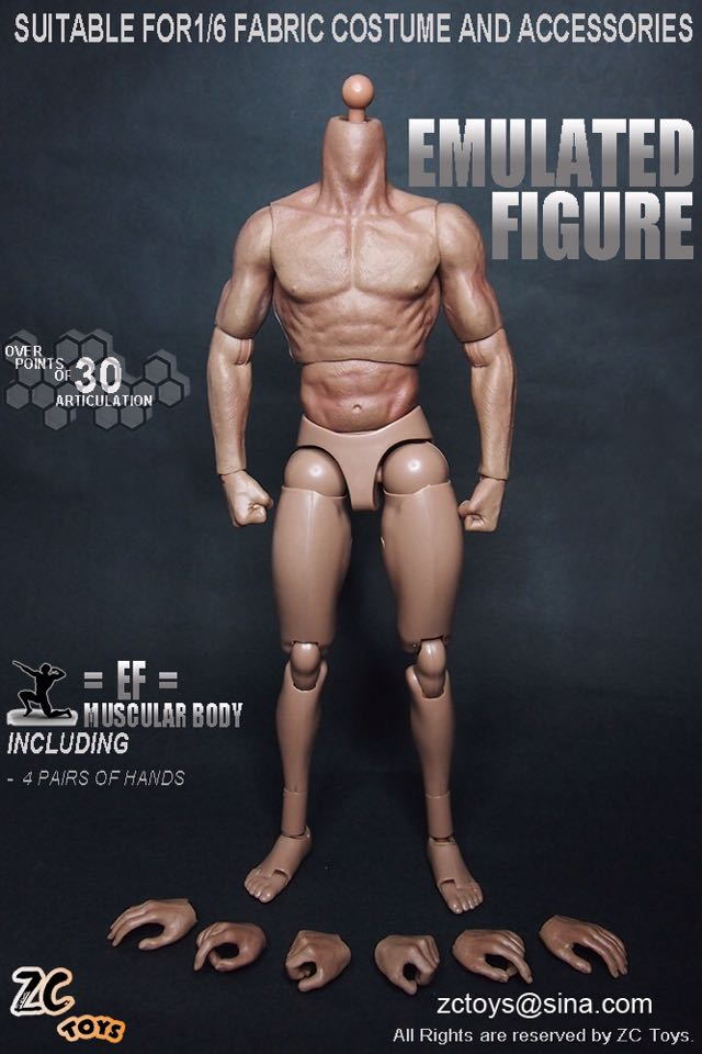 """ZC Toys 1//6 Muscular Figure Body 3.0 Fit For 12/"""" Hot Toys with Seamless Arms Hot"""