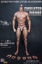 "ZC Toys 1/6 Scale Muscular figure Body Similar to TTM19 For Hot Toys Free Shipping for 12"" Action Figure doll Toys soldier model"