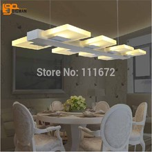 Free shipping new Acrylic modern LED chandelier dinning room light fixtures L840*W260*h850mm