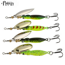 Pisfun 15g/9cm Spinner Baits Fishing Lures Spinnerbait Trout Metal Spoon Willow Artificial Bait Culter Fishing Tackle 4pcs/lot(China)
