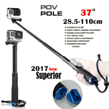 "Action Camera POV Pola 37"" Surfing Diving Extendable Go Pro Self selfie Stick Pole Monopod For GoPro HERO 5 4,3+, for SJCAM(China)"