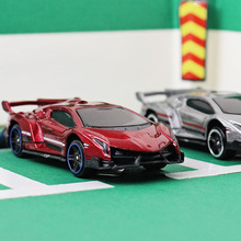 1:64 Alloy car model kids toys Lamborghini poison Sports car Family small ornaments Children like the gift worth collecting