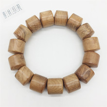 Natural Color Random Spot Wooden Men Fashion Bracelet Men Brand Handmade Diy Jewelry 2018 Valentine's Day Gifts(China)