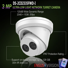 Hikvision Free Shipping New Original English Version DS-2CD2355FWD-I IP 5 MP Network Turret Camera POE SD card 30m IR H.265+