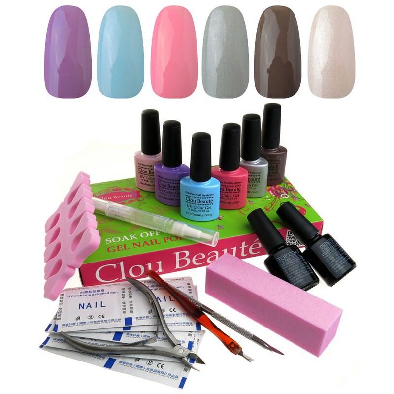 Clou Beaute Soak Off  Gel Nail Polish Top &amp; Base Coat Set Lady Gift Color UV Gel<br><br>Aliexpress