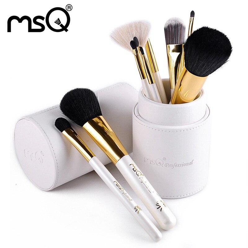 Fashion 11 pcs Makeup Brushes Synthetic Hair Brush Foundation Eyeshadow Eyeliner Brushes Cosmetic Makeup Brush Kits Leather Case<br>