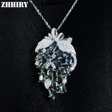 Natural Fancy Sapphire Gemstone Pendant Necklace Woman Genuine Solid 925 Sterling Silver Precious Stone