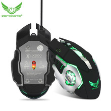 ZERODATE X500 USB Wired Game Mouse With LED Lights and Driver CD for Game Gamer Mouse Gaming Players(China)