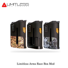 Original Electronic Cigarette Limitless Arms Race LMC 200W Box Mod Dual battery Fashion USA Vape E Cigarettes VS SMOK Alien 220W(China)