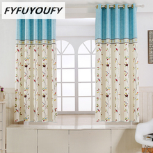 1PC 2 color Short curtain half shade Curtains for the Bedroom Fancy Children Modern Curtains for Living Room Kids tulle curtain(China)
