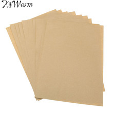 New10Pcs Kraft Sticker Paper Heat Toner Transfer A4 Self Adhesive Brown Kraft Printing Copy Label Paper For Laser Inkjet Printer