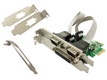 Combo 2 Serial + 1 Parallel IEEE 1284 PCIe Controller card PCI express to RS232 com port + printer LPT port adapter