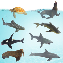 Children's toys Marine animal suits The turtle walrus seals and whales dolphins model, sea animal toys.