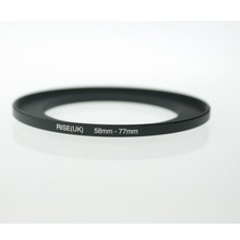 original RISE(UK) 58mm-77mm 58-77mm 58 to 77 Step Up Ring Filter Adapter black free shipping(China)