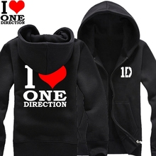1D One Direction Cool kids don't dance Zayn Liam Niall Louis Harry boys male man cotton full zip hooded Cardigan(China)