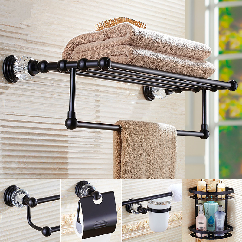 Bathroom Series European Vintage Style Hardware Toilet Paper Holder/ Toilet  Brush Holder/ Towel Rack