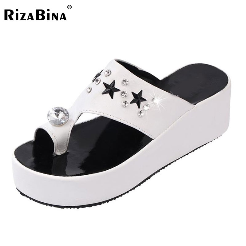 RizaBina ladies flats sandals brand designer flip flops women female slippers leisure sweet shoes with flower size 35-39 PD00074<br><br>Aliexpress