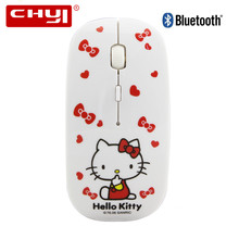 2017 Ultra Thin Slim Bluetooth 3.0 Wireless Mouse Hello Kitty Bluetooth Mouse Mini Cute Mouse Wireless for Child Laptops Mouse(China)