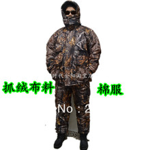 Winproof Realtree Camouflage Pattern Clothes for Winter Hunting Suits Jacket+Pants+Cap(China)