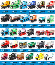 10pcs/lot Wooden Thomas And Friends Train Toys Magnetic Thomas Wooden Model Train Kids Toy Gift Send Random