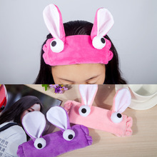 2017 Hot Sale Top Unisex Children Korean Cute Cartoon Rabbit Ears Headband Personality Eyes Hair Band Headdress Jewelry Velvet(China)