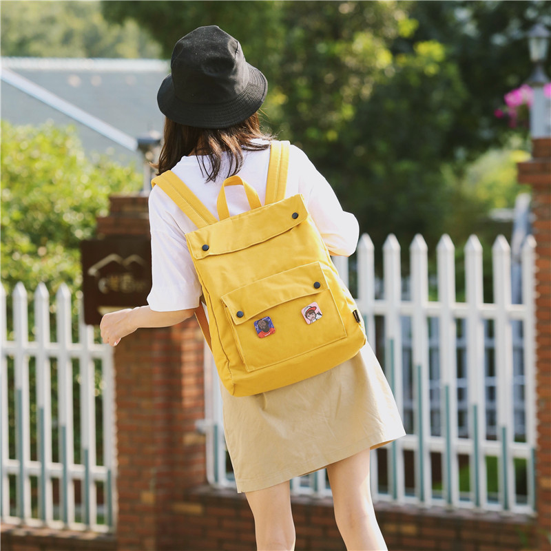 Menghuo Brand Female Women Canvas Backpack Preppy Style School Lady Girl Student School Laptop Bag Cotton Fabric bolsasIPXQ3336