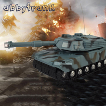 Abbyfrank RC Tank Battle Tank Model 1:22 360 Rotation Music LED Radio Remote Control Fighting Plastic Toy Crawler Tractor