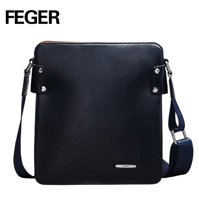 FEGER Brand men messenger high quality bags shoulder-bag pu mens business tablet bag free shipping<br>