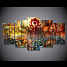 Modular Wall Paintings 2017 Hot Sale Game Cartoon Characters Poster Unframed Modern Painting on Canvas Pictures For Living Room(China)
