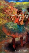 art gallery Two Dancers in Green Skirts Landscape Scener by Edgar Degas oil on canvas Handmade High quality(China)