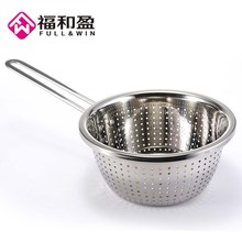 Long Handle Multifunctional Stainless Steel Mixing Bowls Dough Cake Icecream Mixing Bowl Egg Beating Pan Drain Basin(China)
