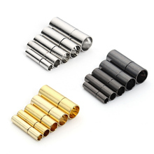 20pcs/lot Gunmetal/Gold/Rhodium Metal End Caps End Clasps Fits 2.5/2/3/4/5/6mm Round Leather Cord for DIY Jewelry Findings F802(China)