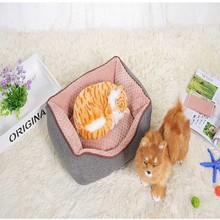 Soft Fleece Corn Velvet Dog Bed Pet's House Puppy Cushion Kennel Nest Soft Pet Bed For Dogs Cats Mat Bed Pet Products S,M,L Size(China)