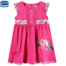 novatx H6148Children's dresses hot selling corduroy  kids wear clothing girls summer clothes newest designs girls frocks dresses