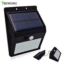28 LEDS Solar Motion Sensor Light Super Bright Waterproof Outdoor Three Modes Security Separable Night Lamp for Garden Wall