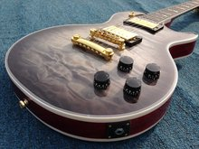 5A grade quilt maple top  Lp supre  electric guitar ebony fingerboard one piece wood neck gold hardware