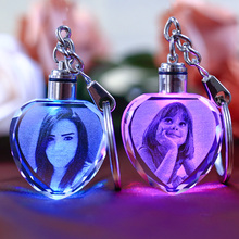 Buy Customized Souvenirs Gift Decoration Heart Shape K9 Crystal Photos Frame Laser Engrave Lover Baby Kids Glass Crafts KeyChain for $3.48 in AliExpress store