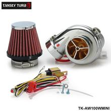 Tansky -  Turbo kits Mini Electric Turbo Supercharger Kit Air Filter Intake for all car Motorcycle TK-AW100WMINI