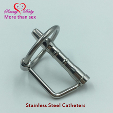 Buy DA-009 43mm Fetish Stainless steel Hollow Urethral Dilators Sounding Penis Plug Glans Rings Sounds Catheters Sex Toys