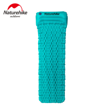 Hand Press Inflating Sleeping Mat Ultralight Moistureproof Ground Mat With Pillow Air Mattress Outdoor Bed Tent Camping Mats