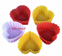Holesales 5pcs/Set Jelly Mold Silicon Cupcake Pan Muffin Cup Cake Tool Bakeware Baking Pastry Tools Silicone Cup Mold(China)