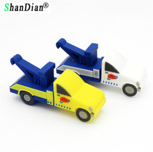 SHANDIAN trailer truck flash drive creative tow car pendrive pen drive 4gb 8gb 16gb 32gb transfer car memory stick u disk gift